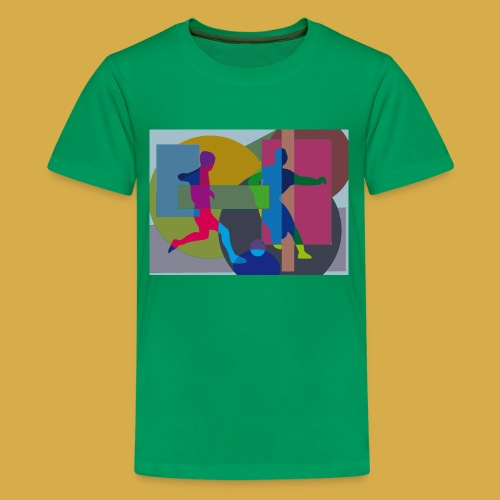 Teenager Shirt mit Fußball Design - Teenager Premium T-Shirt