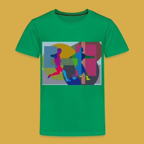 Kinder Shirt mit Fußball Design Motiv - Kinder Premium T-Shirt