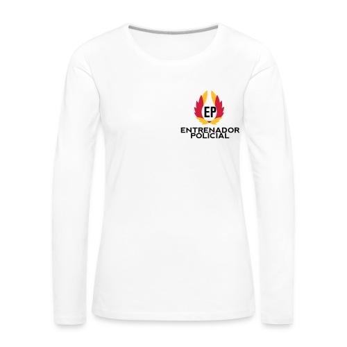 Camiseta Algodón Mujer Blanca - Camiseta de manga larga premium mujer
