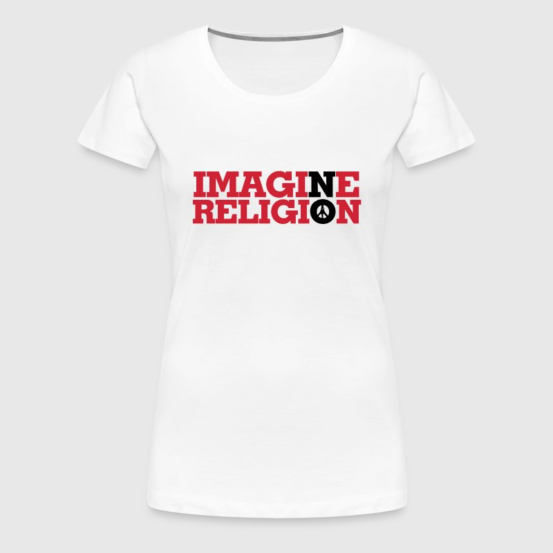 IMAGINE NO RELIGION - Dame premium T-shirt