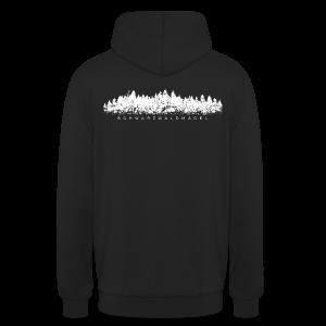 Schwarzwaldmädel (Weiß) Hoodie Rückenaufdruck - Unisex Hoodie