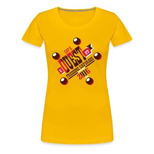 Cap à l'ouest - T-shirt Premium Femme