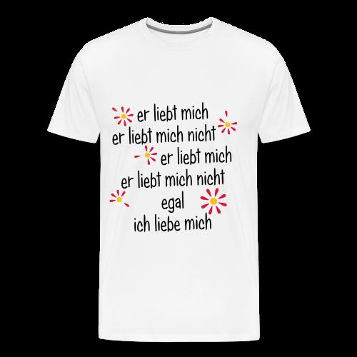 Er liebt mich... - Männer Premium T-Shirt