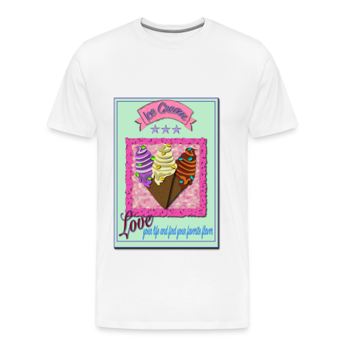 I Love Icecream - Männer Premium T-Shirt