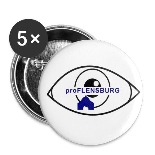 proFlensburg - Anstecker Auge - Buttons mittel 32 mm