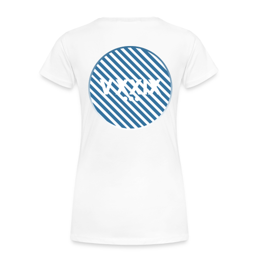 Handwritten Kdh Logo with VXXIX Back Print Womens - Women's Premium T-Shirt