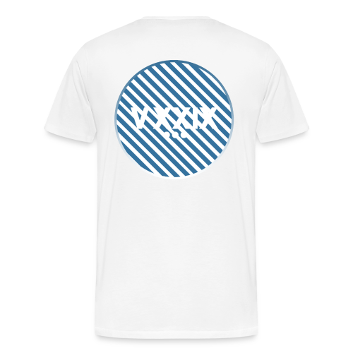 Handwritten Kdh Logo with VXXIX Back Print Mens - Men's Premium T-Shirt