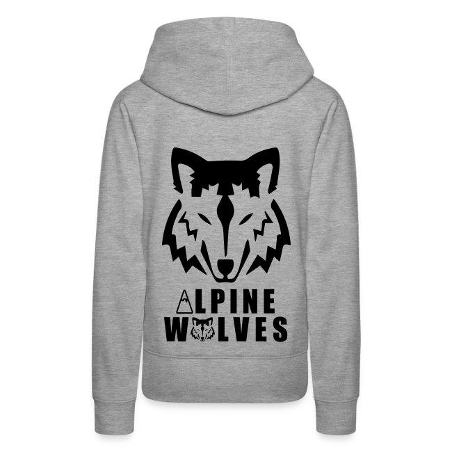 d9db5d54122ae5 Alpine Wolves   DamenWomen - Alpine Wolves Pullover (Schwarzer ...