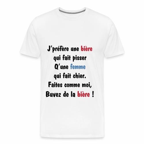texte alcool femme  - T-shirt Premium Homme