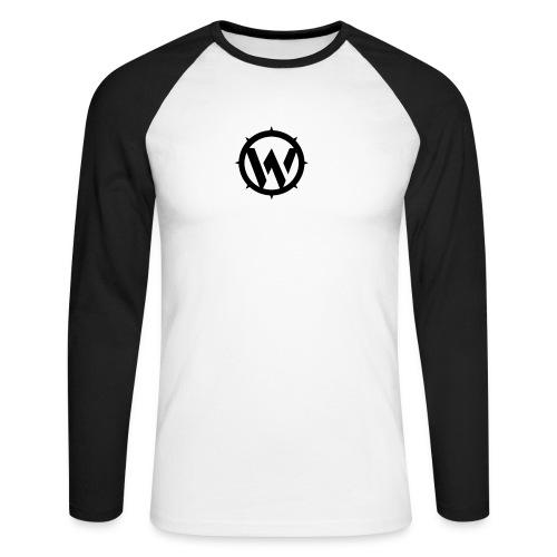 WLYP Long Sleeved Shirt in Black/White  - Men's Long Sleeve Baseball T-Shirt