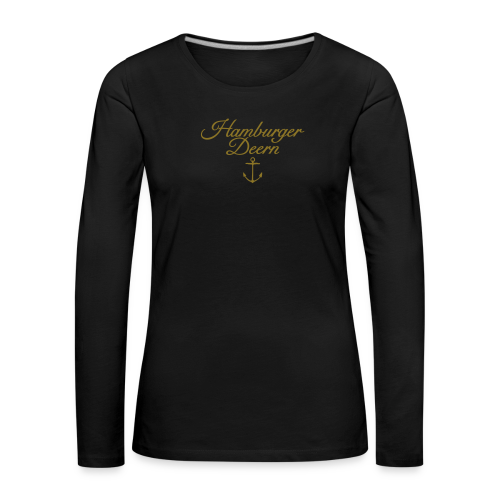 Hamburger Deern Anker Classic (Gold) Langarmshirt - Frauen Premium Langarmshirt