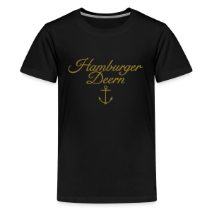 Hamburger Deern Anker Classic (Gold) Teenager T-Shirt - Teenager Premium T-Shirt