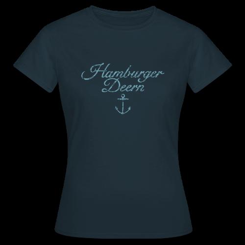 Hamburger Deern Anker Classic (Vintage Hellblau) T-Shirt - Frauen T-Shirt