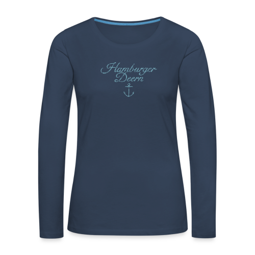Hamburger Deern Anker Classic (Vintage Hellblau) Langarmshirt - Frauen Premium Langarmshirt