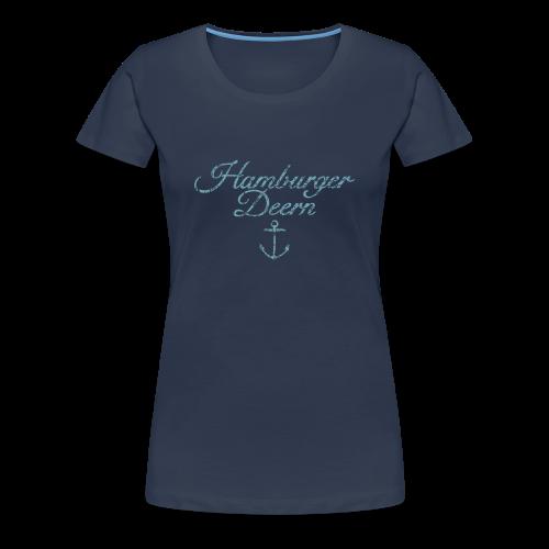 Hamburger Deern Anker Classic (Vintage Hellblau) S-3XL T-Shirt - Frauen Premium T-Shirt