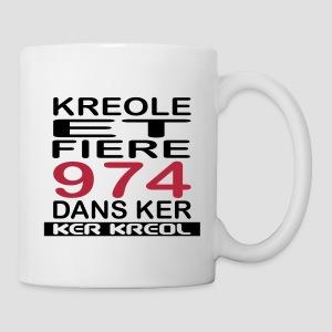 Tasse Kreole et Fier 974 dans Ker - 974 Ker Kreol - Mug blanc