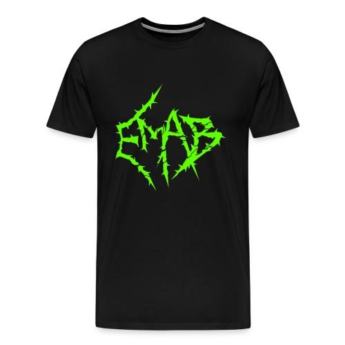 Mens Logo T-Shirt (Black/Green) - Men's Premium T-Shirt