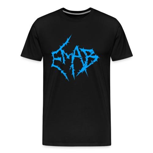 Mens Logo T-Shirt (Black/Blue) - Men's Premium T-Shirt