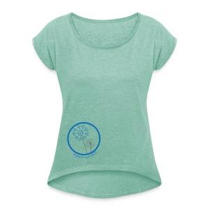 Damen Shirt im Boyfriend Style Pusteblume PCD - Frauen T-Shirt mit gerollten Ärmeln