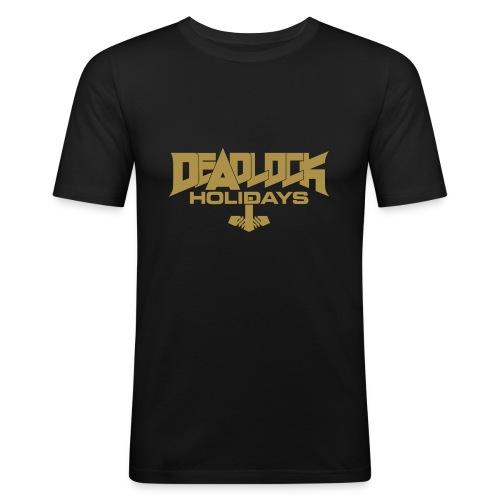 DEADLOCK HOLIDAYS T-Shirt gold Männer - Männer Slim Fit T-Shirt