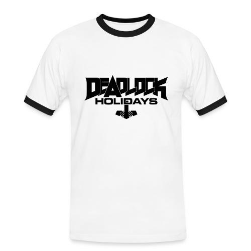 DEADLOCK HOLIDAYS Retro-T-Shirt weiß Männer - Männer Kontrast-T-Shirt
