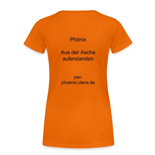 Phönix-Shirt (female), orange - Frauen Premium T-Shirt