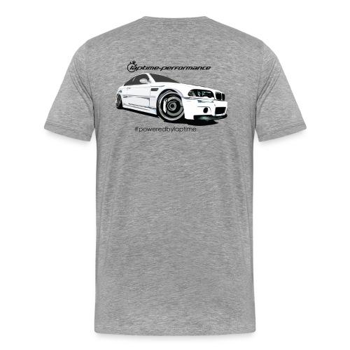 E46 CSL #poweredbylaptime - Männer Premium T-Shirt
