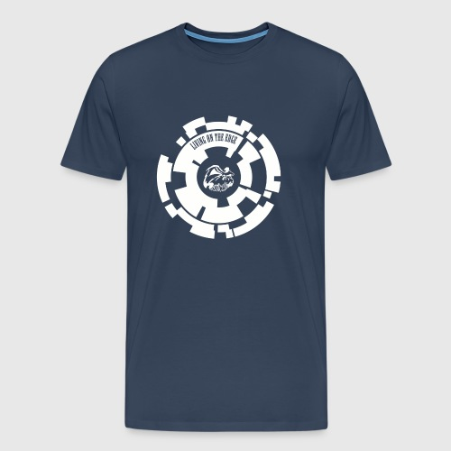 LIVING ON THE EDGE  - Herre premium T-shirt