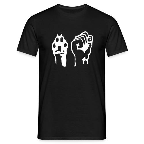 Pfote und Faust (Herren T-Shirt) - Männer T-Shirt