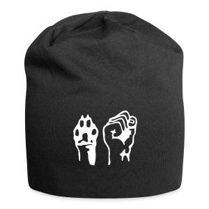 Pfote und Faust (Beanie/Mütze) - Jersey-Beanie