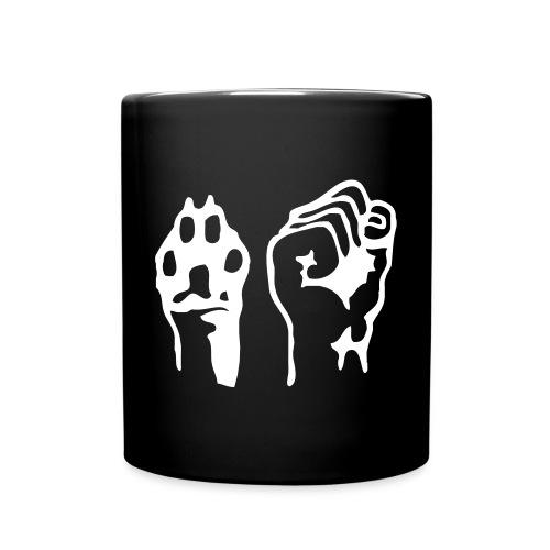 Pfote und Faust (Kaffeebecher/Tasse) - Tasse einfarbig