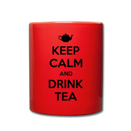 keep calm and drink tea mug - Full Colour Mug