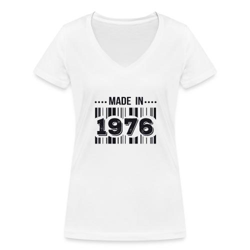 Tshirt 40 ans made in 1976 - T-shirt bio col V Stanley & Stella Femme