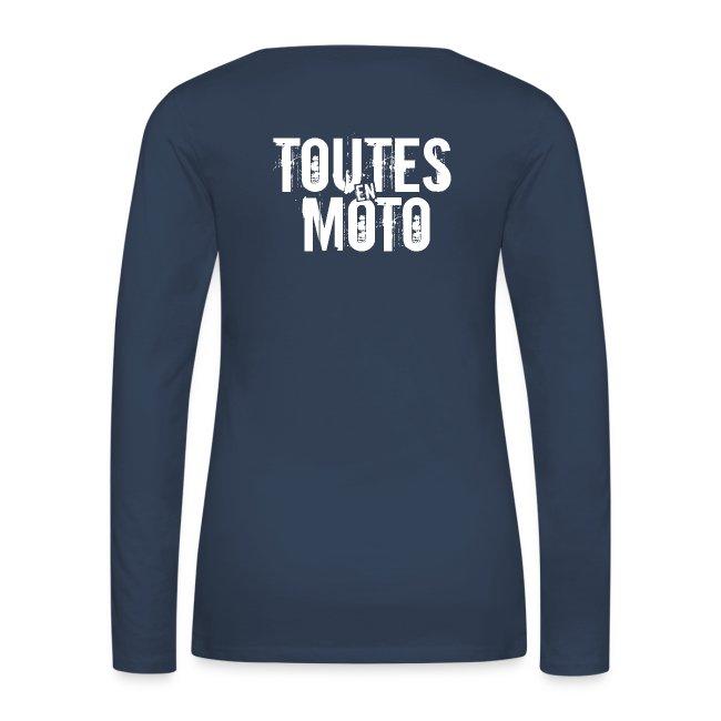 Tee-Shirt Manches Longues Bleu Logo Blanc