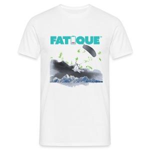 FATiQUE white teal loco logo kite - Miesten t-paita