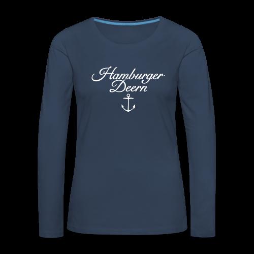 Hamburger Deern Anker Classic (Weiß) Langarmshirt - Frauen Premium Langarmshirt
