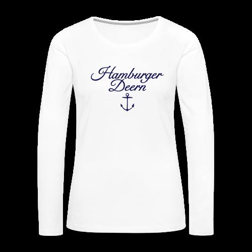 Hamburger Deern Anker Classic (Navy) Langarmshirt - Frauen Premium Langarmshirt