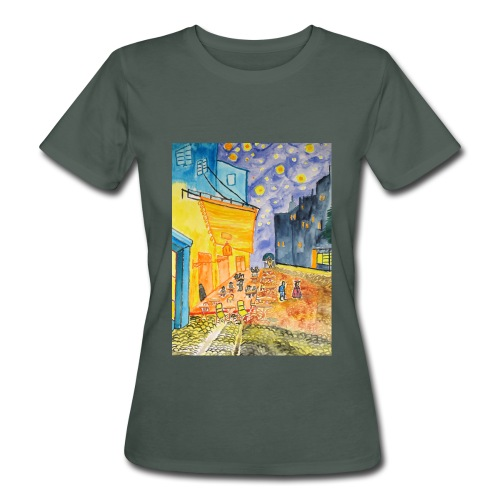 Nachtcafé, Organic Frauen Bio T-Shirt  - Frauen Bio-T-Shirt