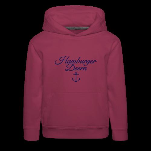 Hamburger Deern Anker Classic (Navy) Kinder Hoodie - Kinder Premium Hoodie