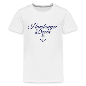 Hamburger Deern Anker Classic (Navy) Teenager T-Shirt - Teenager Premium T-Shirt