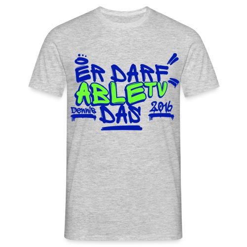 AbleTV Grafitti Logo Marken Shirt (Er Darf Das)  - Männer T-Shirt