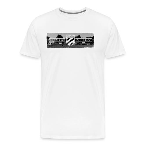 Shirt weiß mit Stadion & Logo für unsere Herren - ♂  - Männer Premium T-Shirt