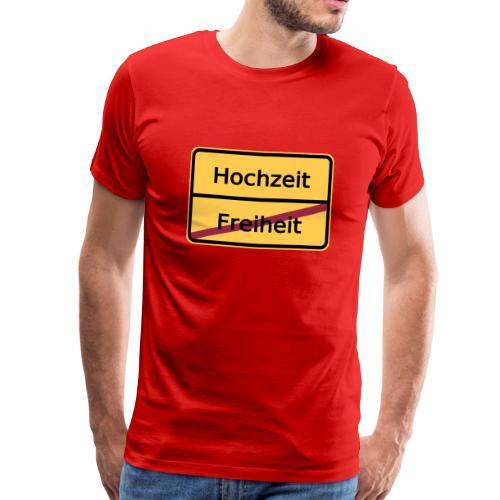 Ortsausgangsschild Freiheit - Männer Premium T-Shirt