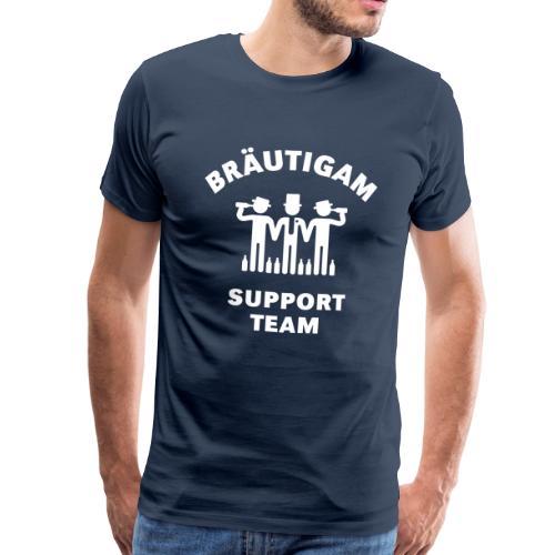 Bräutigam Support Team - Männer Premium T-Shirt