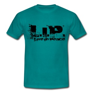 L.I.P. - Live In Peace - Black - Männer T-Shirt