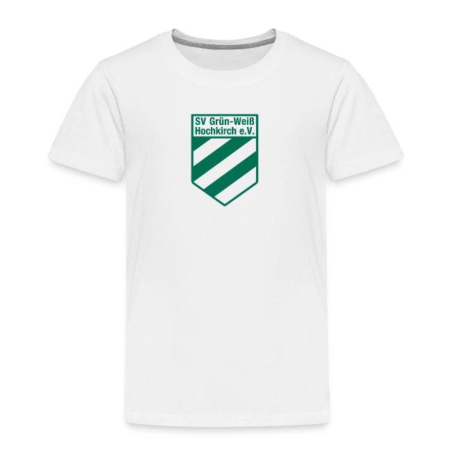 Shirt weiß mit Logo für unsere Kids
