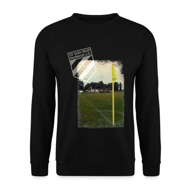 Pullover schwarz mit Logo & Eckfahne für unsere Herren - ♂