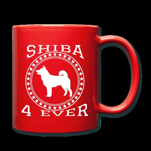 Shiba 4 Ever Tasse im College Design - Tasse einfarbig