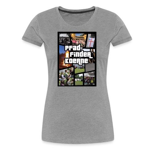 Zelten statt Zocken - Frauen Premium T-Shirt