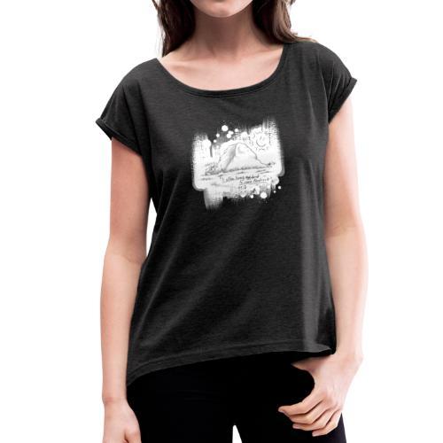Listen to Hardrock - Frauen T-Shirt mit gerollten Ärmeln
